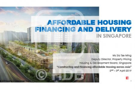 Constructing and Financing Affordable Housing Across Asia Session III, 2 April 2019